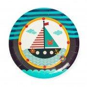 """Тарелки из коллекции Пираты """"Кораблик"""" 18 см 6 шт"""