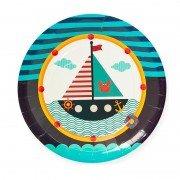 """Тарелки из коллекции Пираты """"Кораблик"""" 23 см 6 шт"""