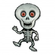 "Шар Фигура ""Танцующий скелет серый"""