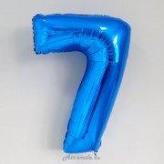 Фольгированная цифра 7 синего цвета