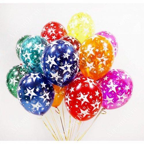 Гелиевые шары со звёздами