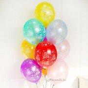 Гелиевые шары с надписью «С Днем Рождения» металлик