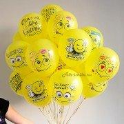Гелиевые шары с эмоциями на день рождения