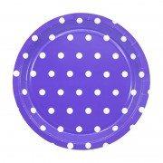 Тарелка Горошек фиолетовая 17 см 6 шт