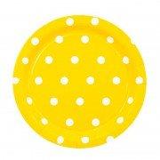 Тарелка Горошек желтая 17 см 6 шт