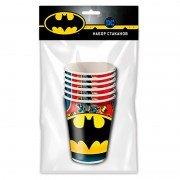 Набор бумажных стаканов Бэтмен 250 мл 6 шт