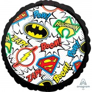 Воздушный шар Лига справедливости Эмблемы размер 45 см