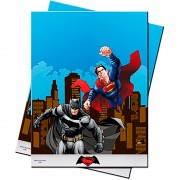 Скатерть полиэтиленовая Бэтмен и Супермен 1,2х1,8 м