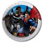 Тарелка Бэтмен и Супермен 23 см 8 шт