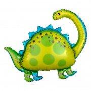 """Шар фигура """"Динозавр Бронтозавр"""" желтый"""