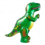 """Шар фигура ходячая """"Динозавр Аллозавр зеленый"""""""