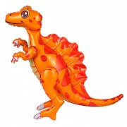 """Шар фигура ходячая """"Динозавр Спинозавр оранжевый"""""""