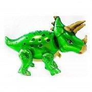 """Шар фигура ходячая """"Динозавр Трицератопс зеленый"""""""