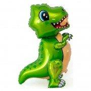 """Шар фигура ходячая """"Маленький динозавр зеленый"""""""