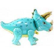 """Шар фигура ходячая """"Динозавр Трицератопс бирюзовый"""""""