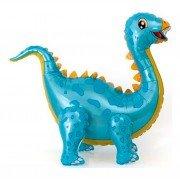 """Шар фигура ходячая """"Динозавр стегозавр голубой"""""""
