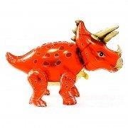 """Шар фигура ходячая """"Динозавр Трицератопс оранжевый"""""""