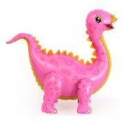 """Шар фигура ходячая """"Динозавр стегозавр розовый"""""""