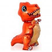 """Шар фигура ходячая """"Маленький оранжевый динозавр"""""""