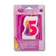 "Свеча цифра ""5"" Принцессы"