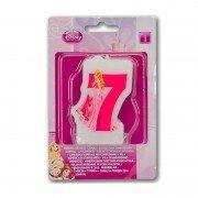 "Свеча цифра ""7"" Принцессы"