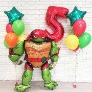 Комплект шаров на 5 лет в стиле Черепашки Ниндзя