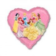 """Шар в форме сердца """"Принцессы"""""""