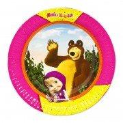 Большая тарелка Маша и Медведь
