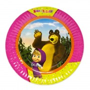 Маленькая тарелка Маша и Медведь