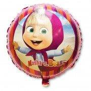 Воздушный шарик Маша и Медведь