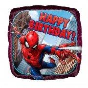 Шар Happy Birthday Человек-Паук в полете
