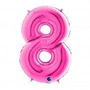 """Фольгированная цифра 8 Розовая """"Pink"""""""