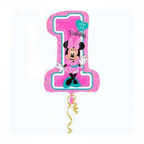 Надувная цифра шар 1 для девочки Мини Маус