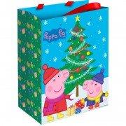 Пакет подарочный «Пеппа и Новый Год» 23*18*10 см, 1 шт