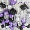 Шарики под фиолетовый и серебряный хром, чёрный матовый 2