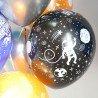 Оформление шарами в стиле космос на 6 лет для мальчика 1