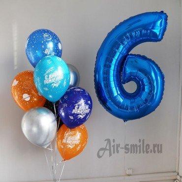 Оформление шарами в стиле космос на 6 лет для мальчика
