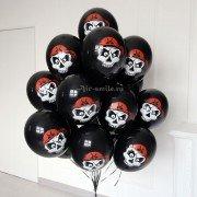 Воздушные шары с рисунком череп в бандане