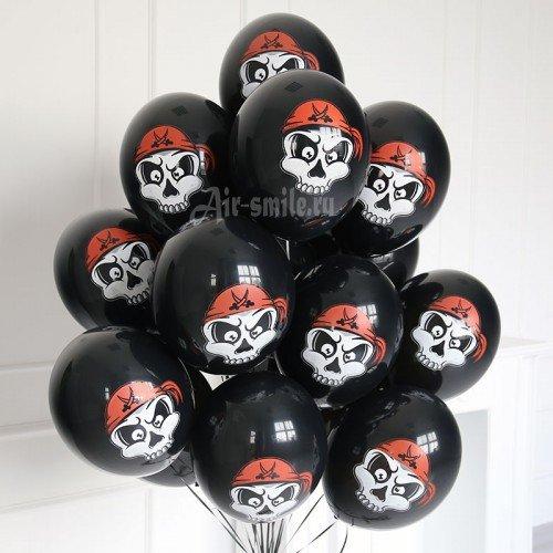 Шарики с пиратскими черепами