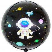 Шар (24''/61 см) Сфера 3D, Космические приключения, 1 шт.