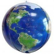 Шар (24''/61 см) Сфера 3D, Планета Земля, 1 шт.