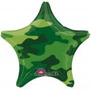 Шарик звезда в темно-зеленом камуфляже