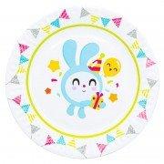 Тарелка бумажная Малышарики Флажки 17 см 6 шт