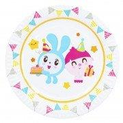 Тарелка бумажная Малышарики Флажки 23 см 6 шт