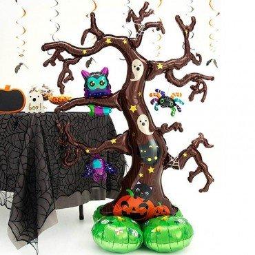 Шар дерево на Хэллоуин с тыквой