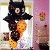 Воздушные шарики на Хэллоуин чёрные и оранжевые в точечку 3