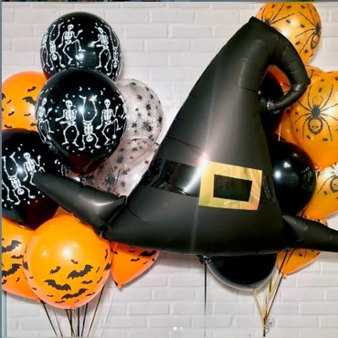 Комплект фонтанов из шаров на Хэллоуин и шляпы волшебника