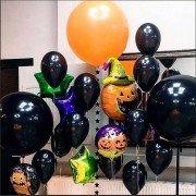 """Готовое решение из воздушных шаров на Хэллоун """"Кошелек или жизнь"""""""