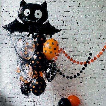 Шарики воздушные летучая мышь на Хэллоуин