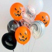"""Воздушные шары на Хэллоун """"Веселая тыква"""""""